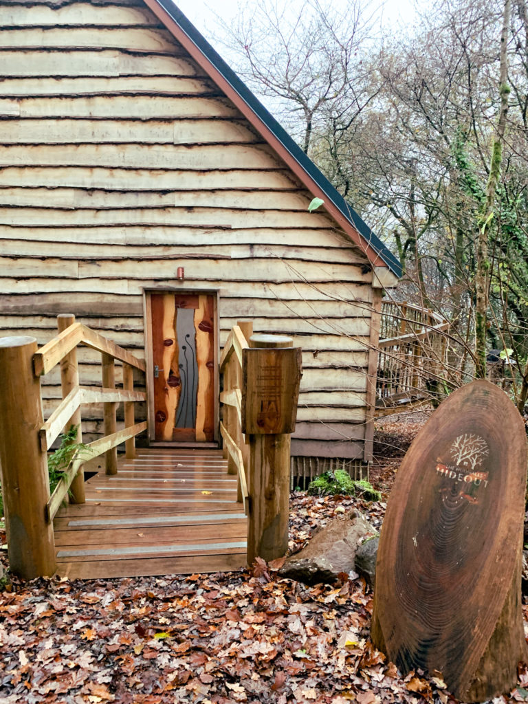 Hudnalls Hideout - treehouse to stay in, Wye Valley, front door