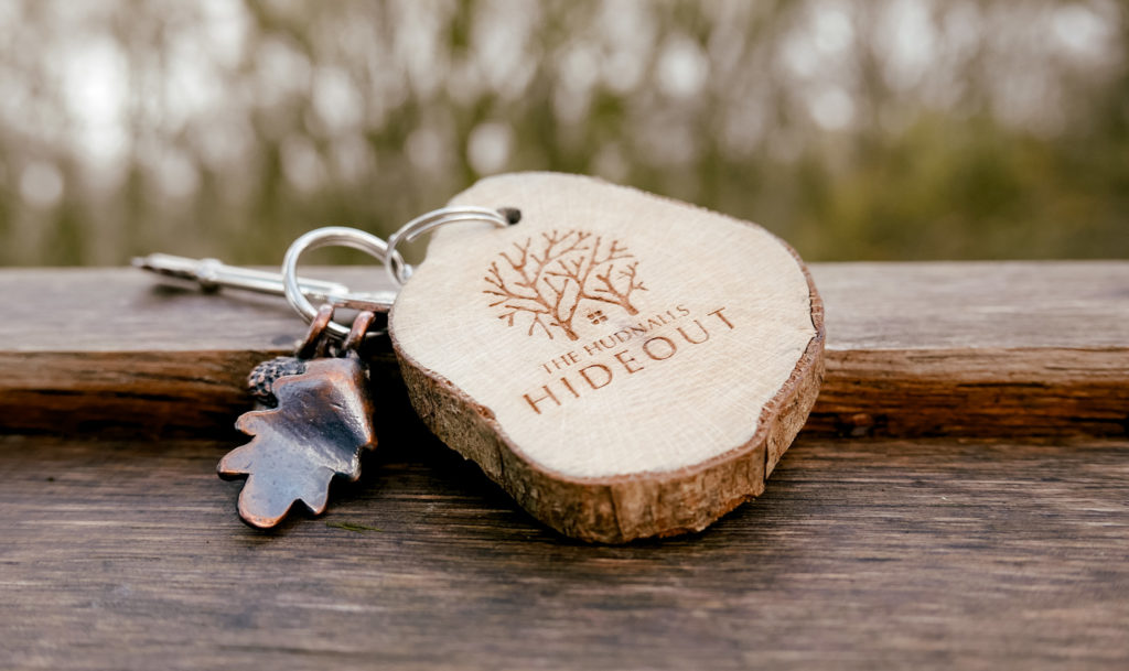 Hudnalls Hideout - treehouse to stay in, Wye Valley, key and keyring