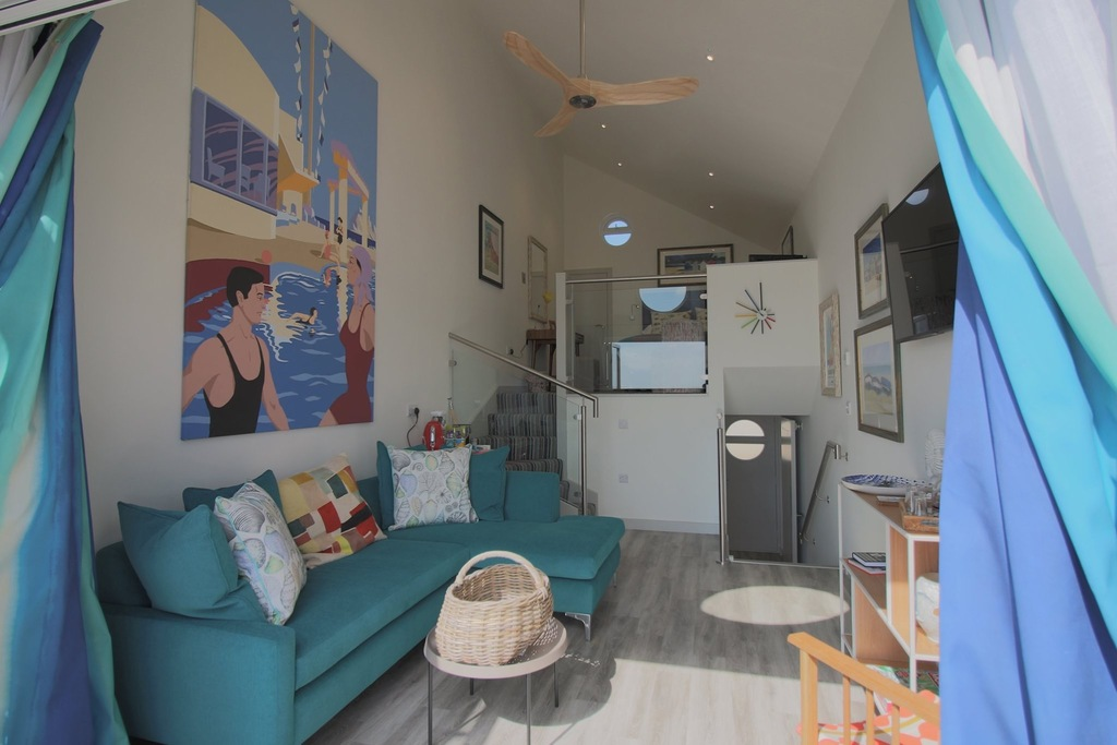 beachcroft beach huts - living space