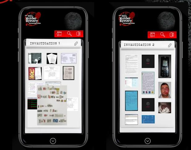 Cold Case investigation - mobile view