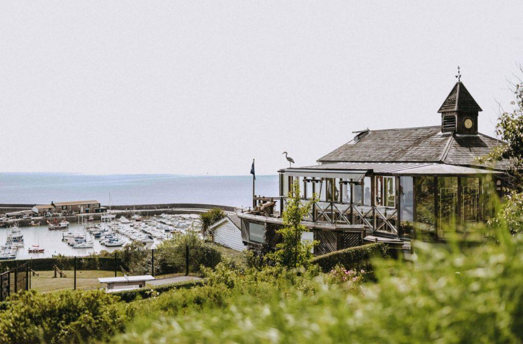 oyster house restaurant in Lyme Regis - outside of restaurant
