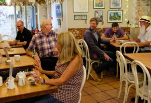 courtyard-cafe-lyme-regis inside dinners