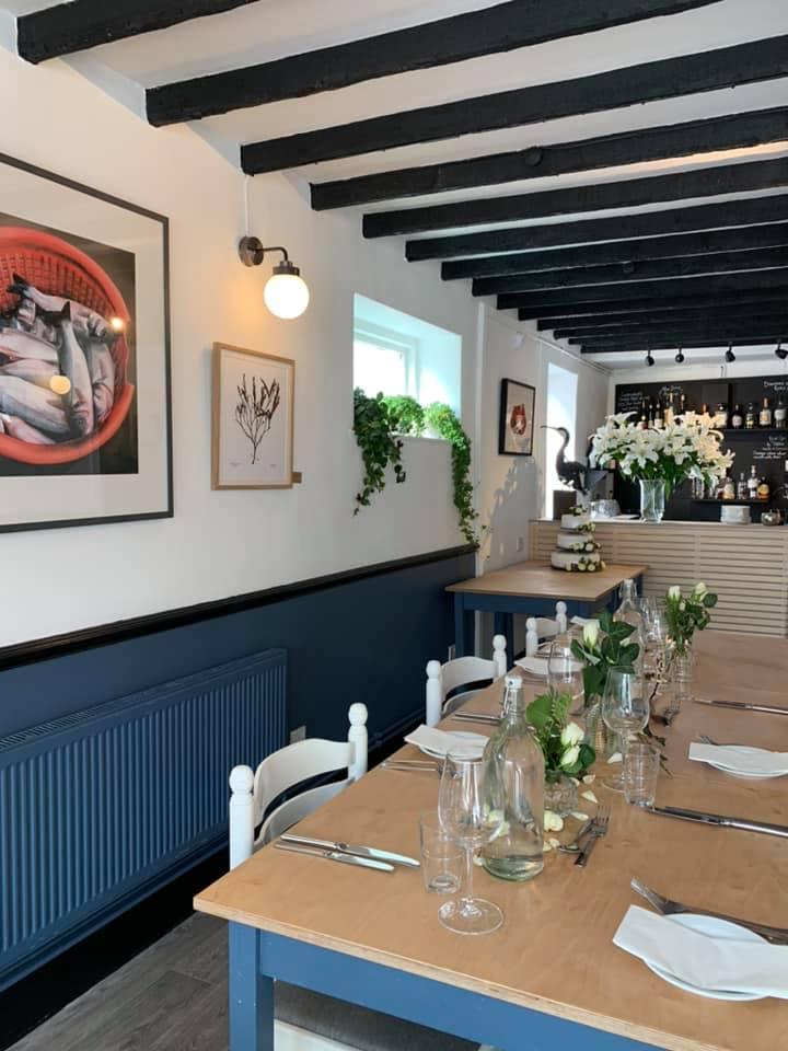 The Millside restaurant in Lyme Regis - inside
