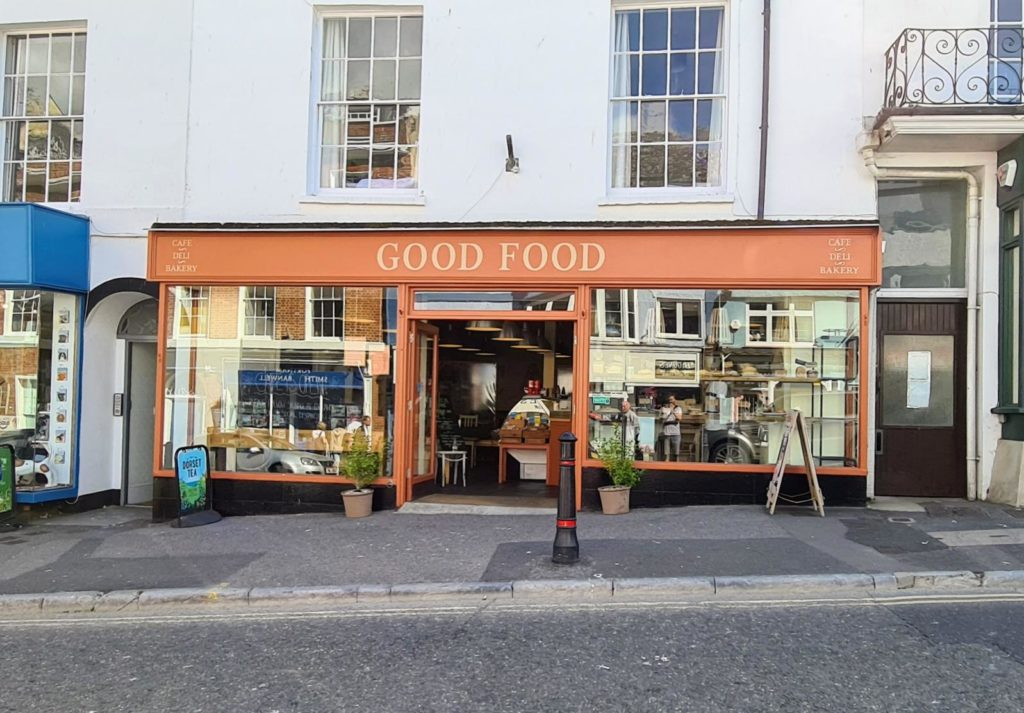good food cafe and deli in lyme regis - exterior