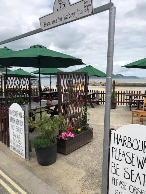 Harbour inn lyme regis - beachfront seating