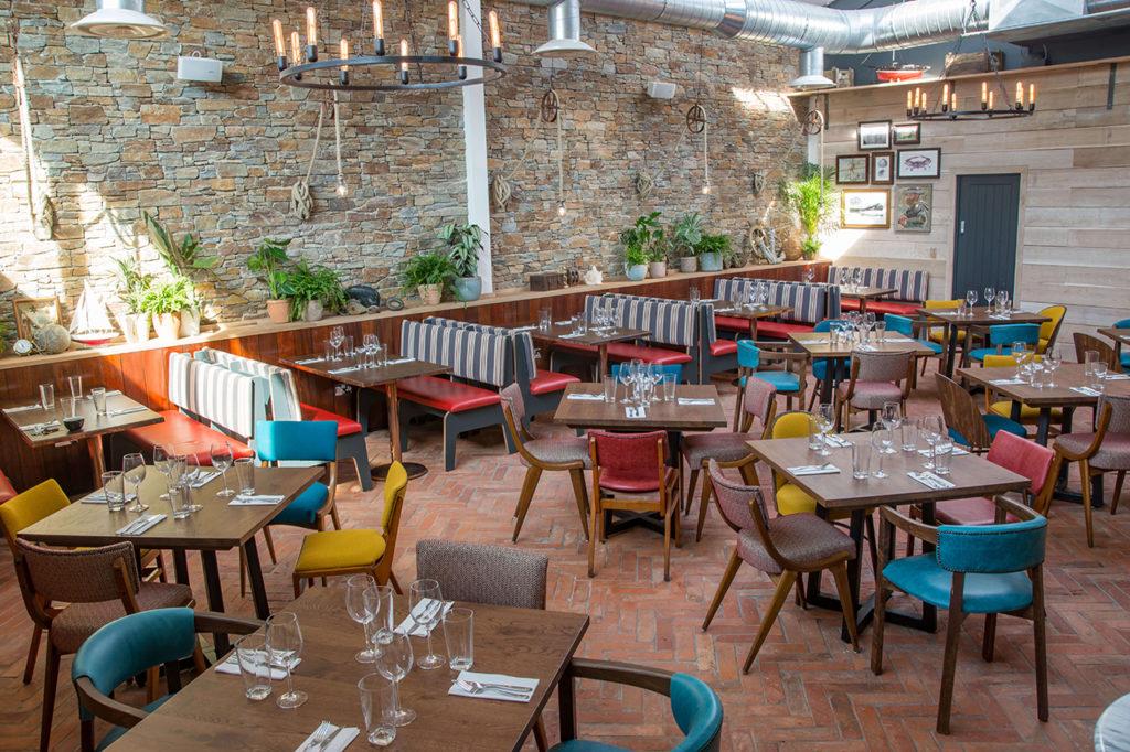 pilot boat inn lyme regis - restaurant inside