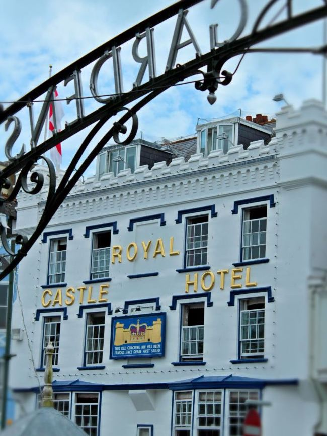 View of the royal castle hotel in dartmouth