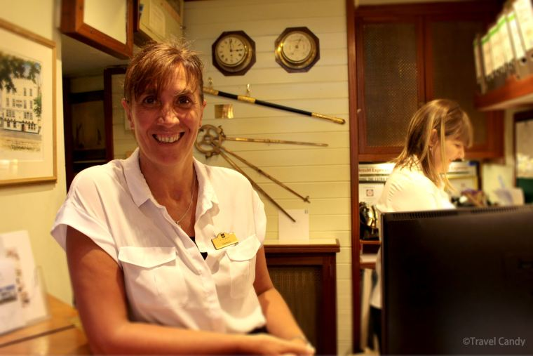 Staff at the royal castle hotel in Dartmouth
