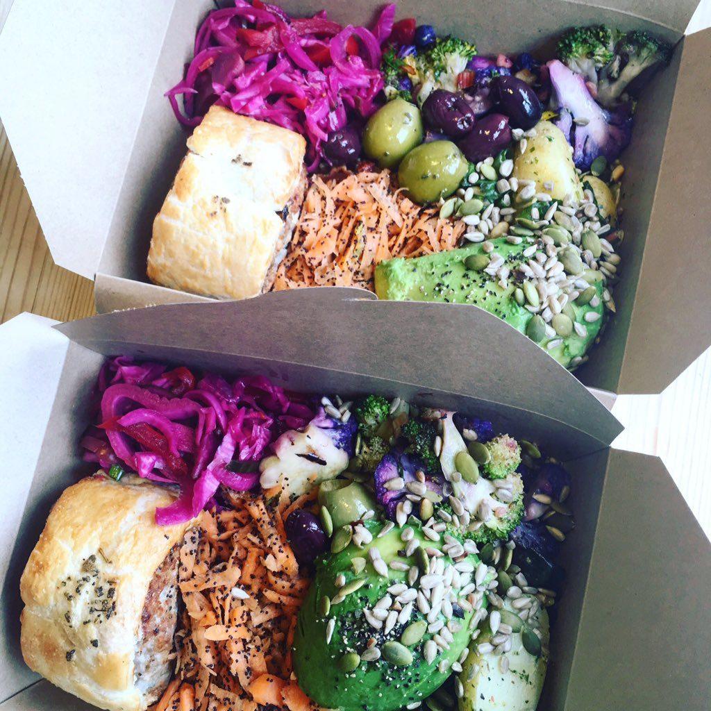 secret garden cafe in cardiff - picnic box