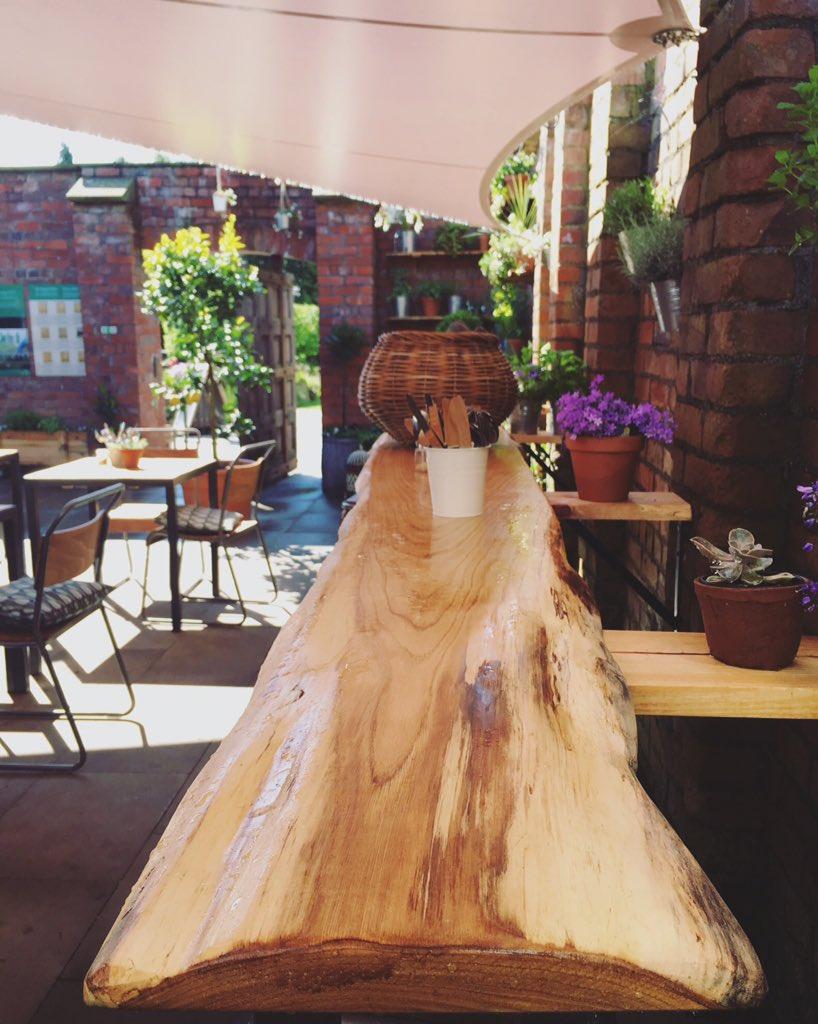 secret garden cafe in cardiff - inside walled garden