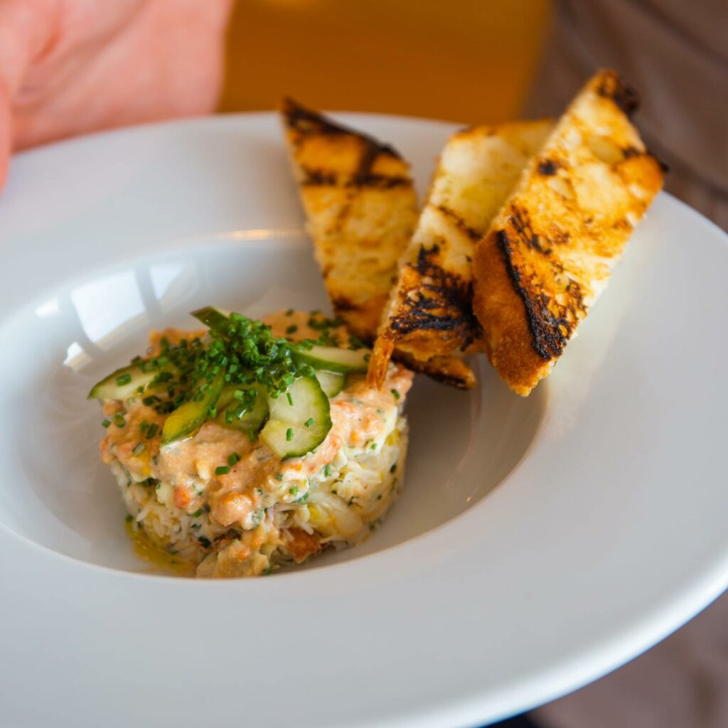 the club house west bexington - seafood dish of crab