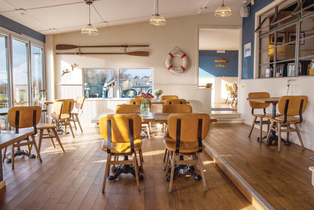 the club house west bexington - inside restaurant
