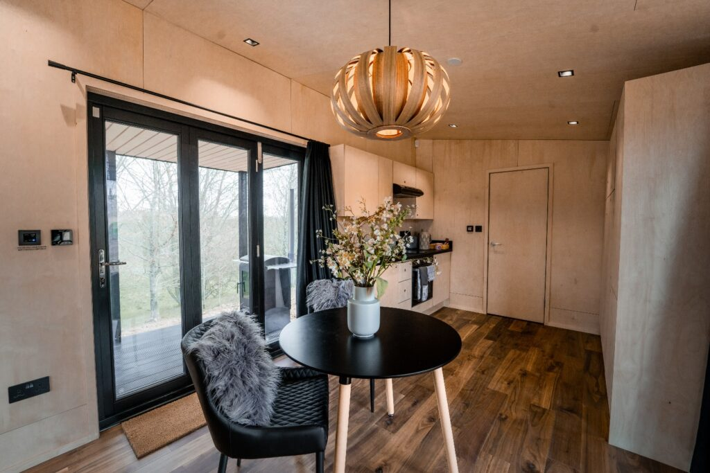 Hidey-Hole-Glamping-East-Sussex dining table