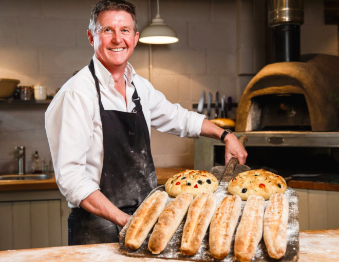 bakehouse west sussex - glamping and baking experiences - Les head baker