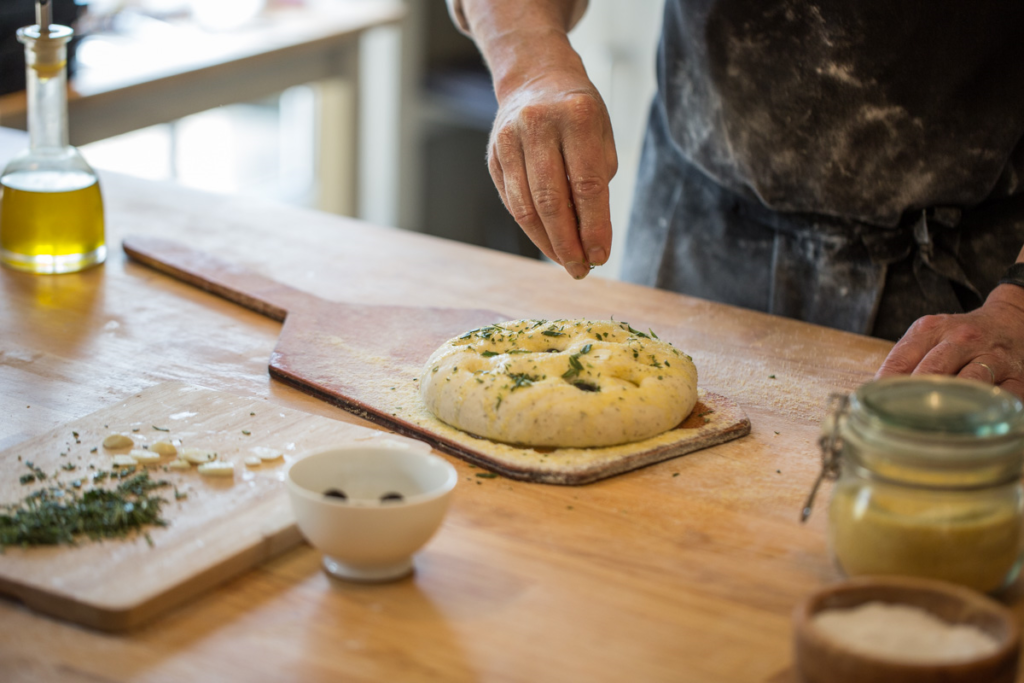 bakehouse west sussex - glamping and baking experiences - baking focaccia