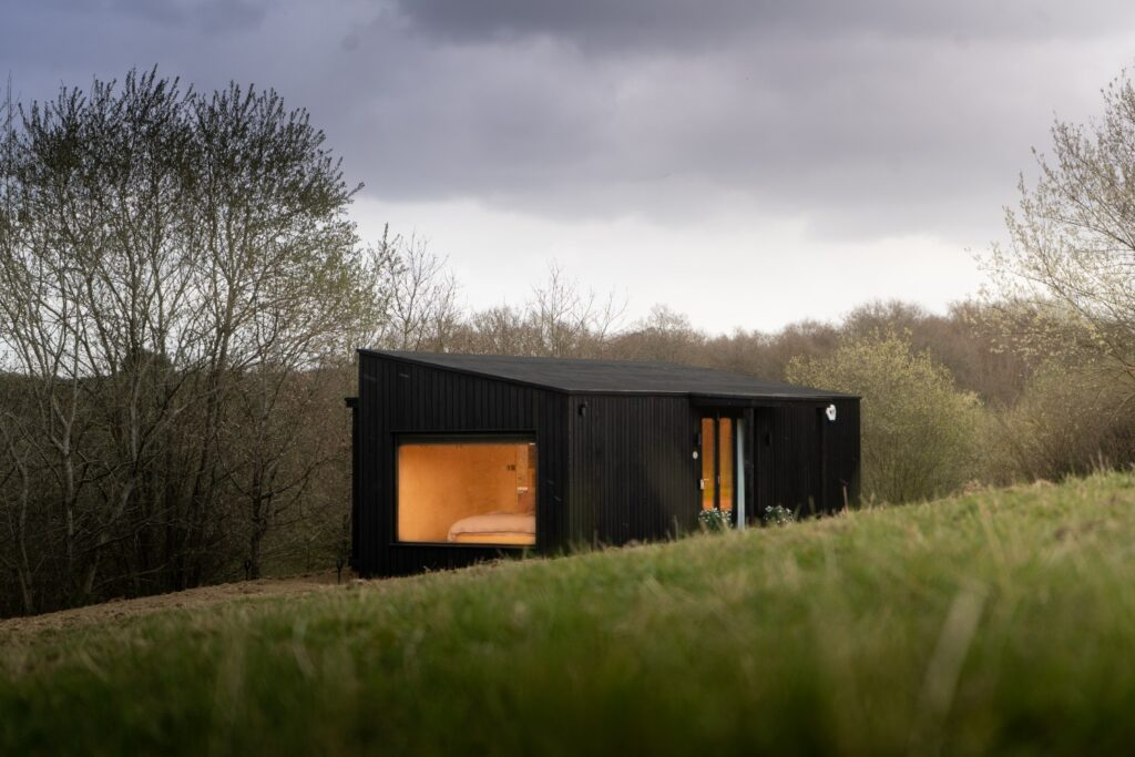 Hidey-hole cabin east sussex glamping experience - outside view