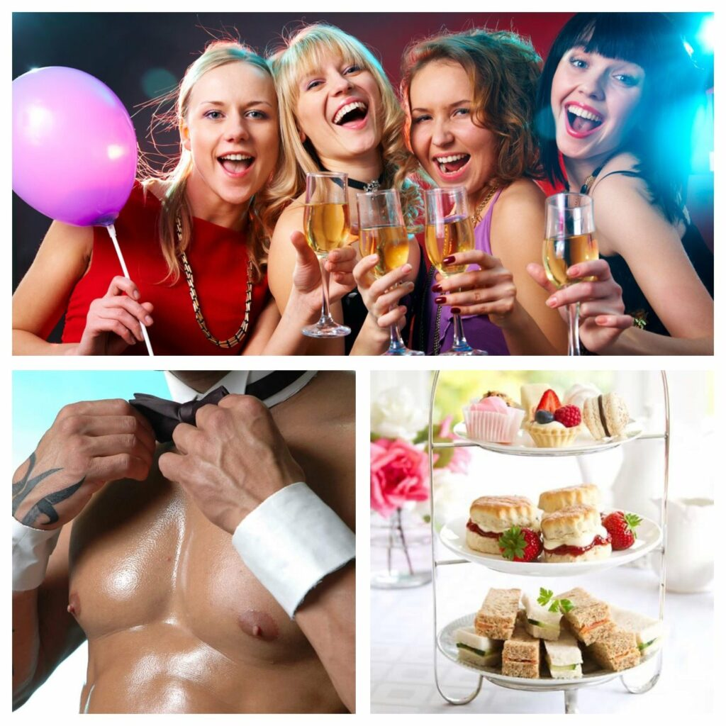 afternoon-tease-hen-party montage of images