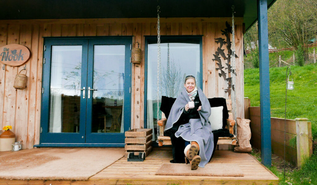 the-roost-glamping-in-forest-of-dean-claire at cabin