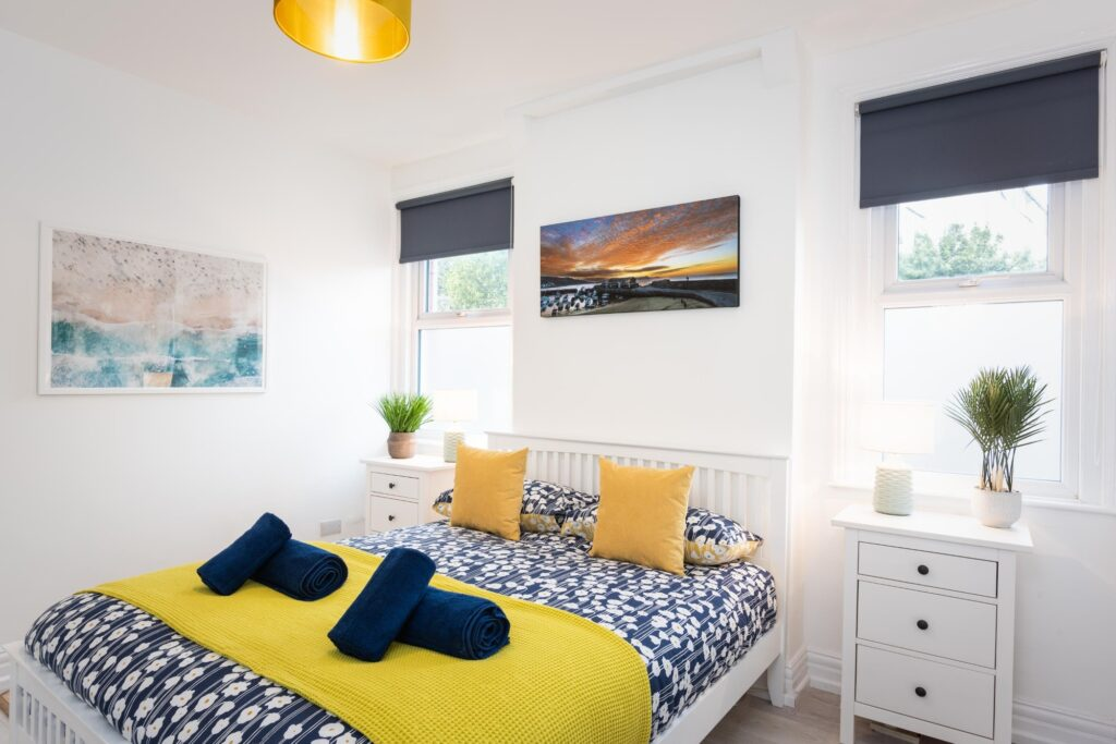 dog-friendly accommodation lyme regis master bedroom