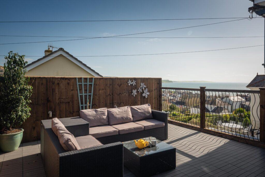 dog-friendly accommodation lyme regis terrace views