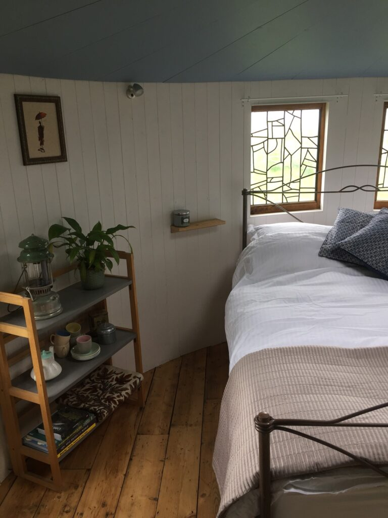 cadora-woods-glamping-forest of dean - yurt bedroom