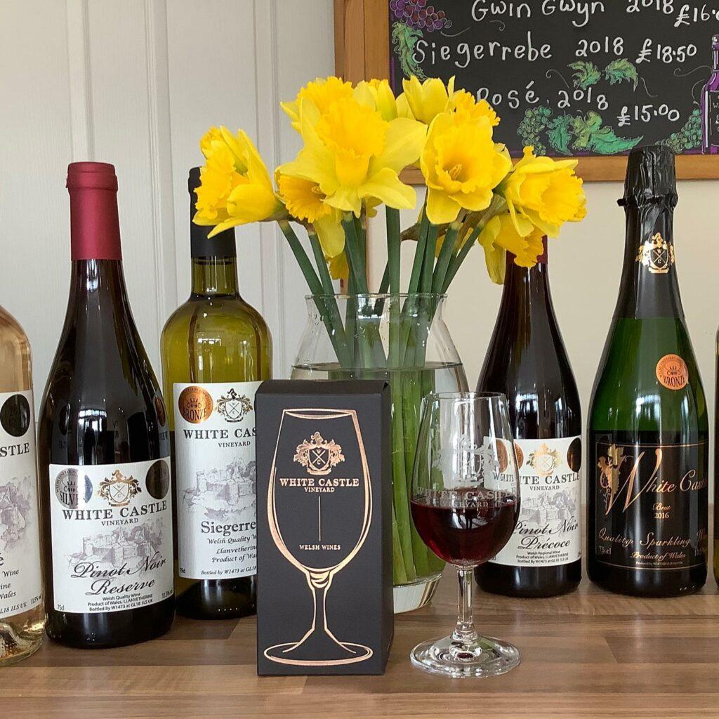 White castle vineyard in Wales: wines
