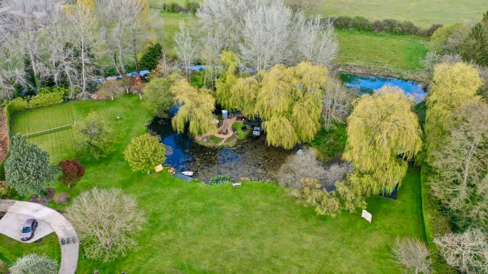 The Meadow Glamping in Hampshire - ariel shot