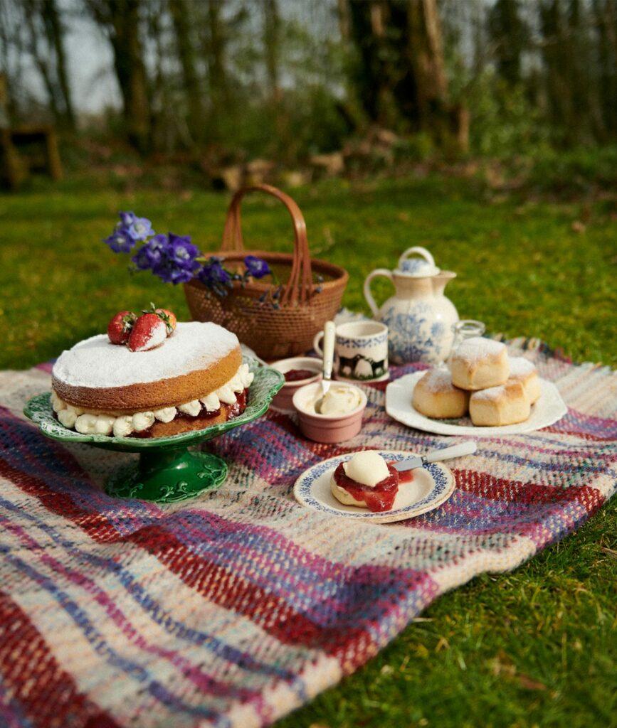 cornish-retreat-cabilla picnic and scones