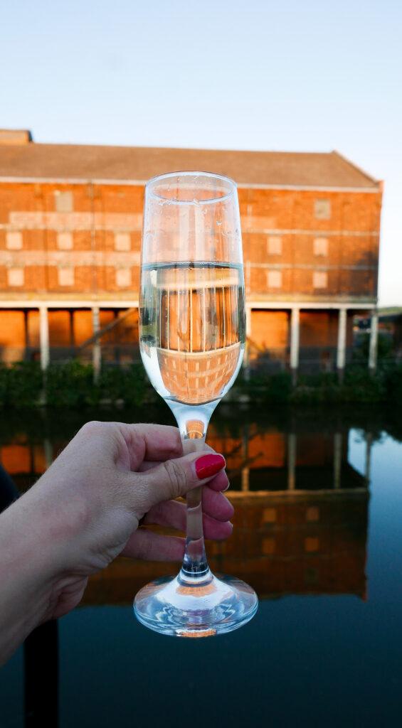 SULA-Lightship-Gloucester-Docks drinks on sun deck