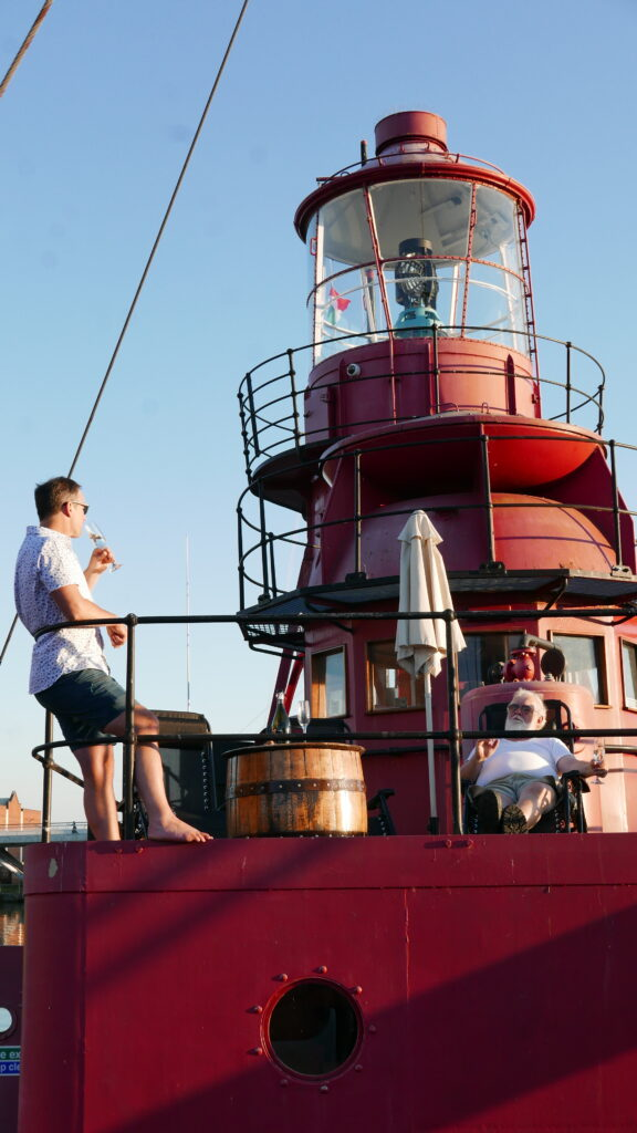 SULA-Lightship-Gloucester-Docks sun deck
