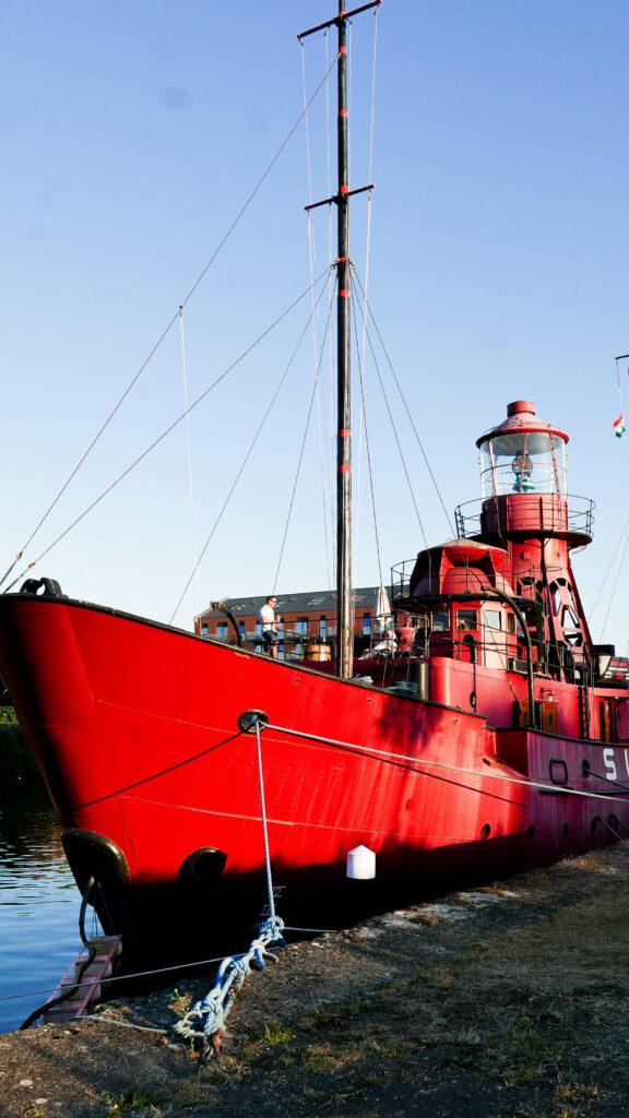 SULA-Lightship-Gloucester-Docks boat in docks