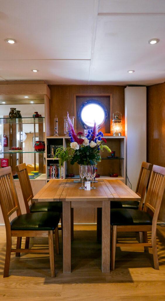 SULA-Lightship-Gloucester-Docks dining table