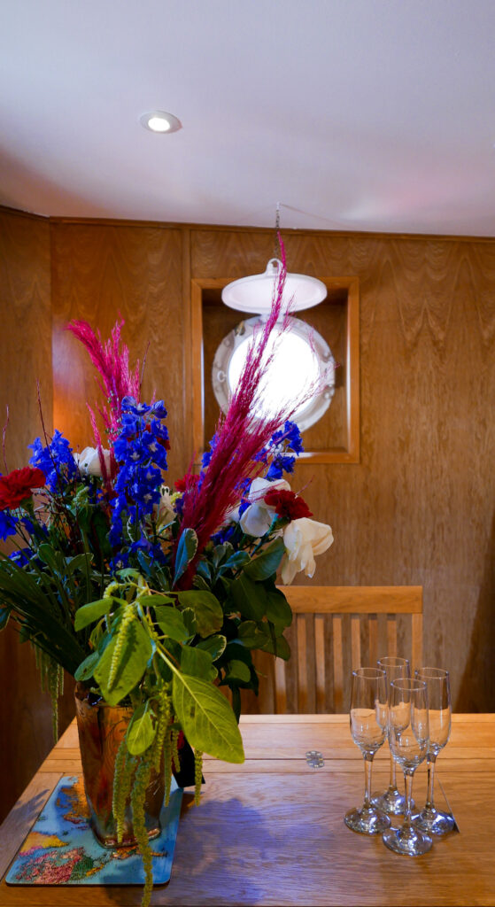 SULA-Lightship-Gloucester-Docks fresh flowers