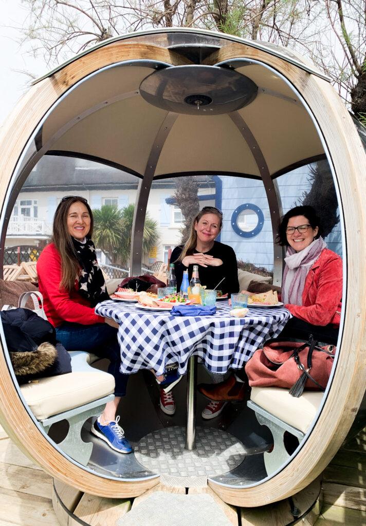beachcroft-beach-huts: dining pod at Blakes