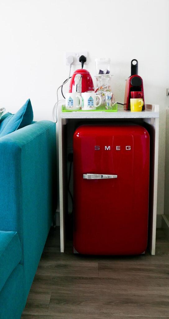 beachcroft-beach-huts: smeg fridge