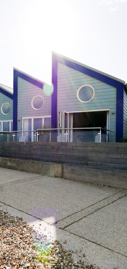 beachcroft-beach-huts: exterior of huts