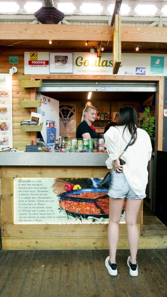 FOOD-TOUR-BATH goulash stall