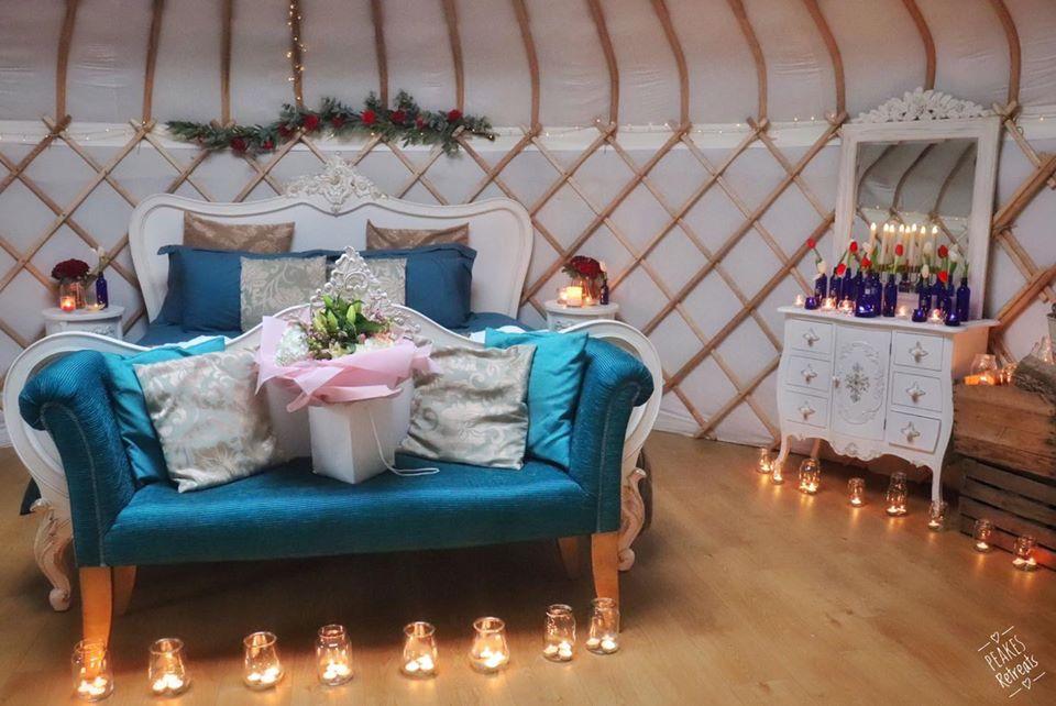 Peake's Retreat Yurts - inside