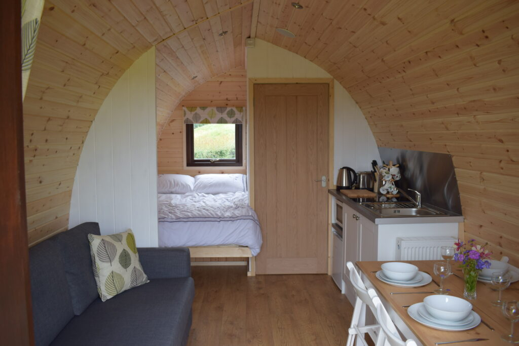 Peak district glamping - inside pod
