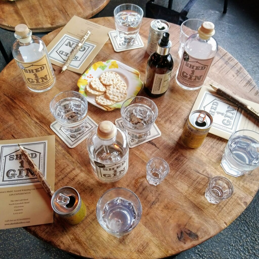 Shed 1 gin blending and tasting