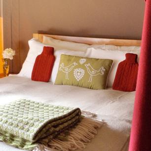 Peak district glamping - bedroom safari tent