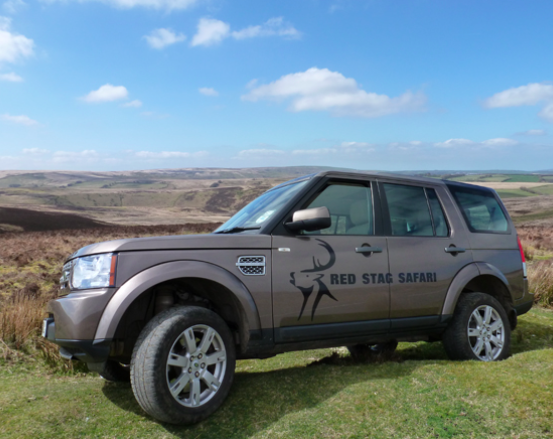 Red stag safari exmoor - land rover