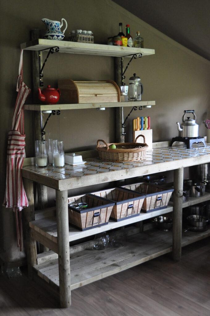 Peak district glamping - kitchen unit