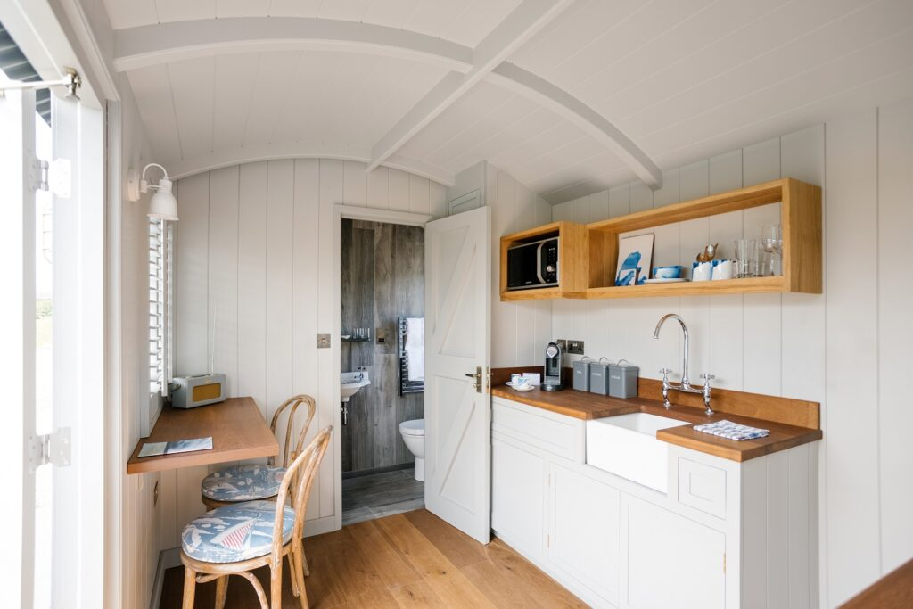 Shepherds Huts Cornwall - Rick Stein's huts in St Merryn - inside