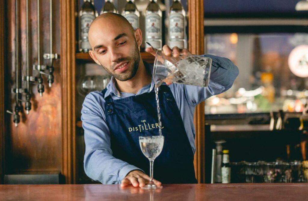 The Distillery Gin Hotel Portobello Road London - bartender