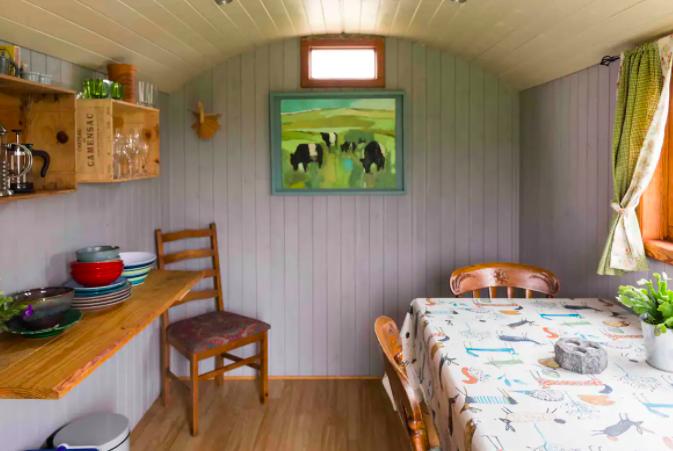 Shepherds Huts Cornwall - kitchen in Diddylake huts