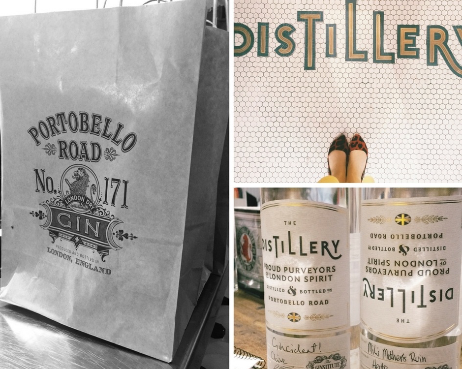 The Distillery Gin Hotel Portobello Road London - gin