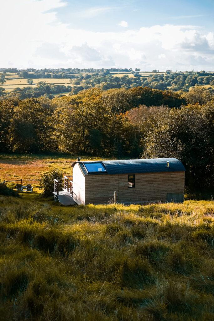 Royal Oak Farm stargazing cabins in Honiton, Devon
