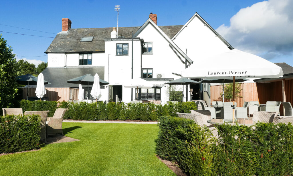 new inn st owens cross: beer garden